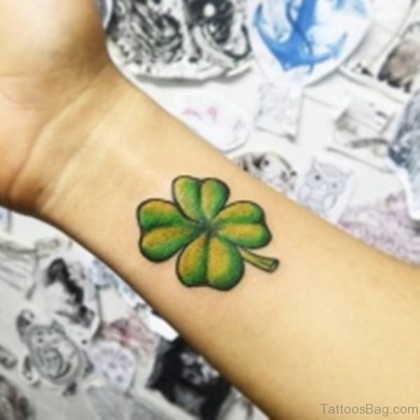 Outstanding Four Leaf Wrist Tattoo