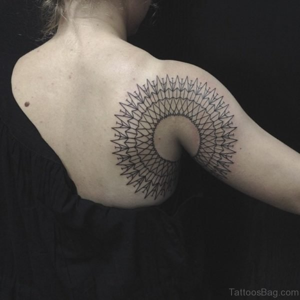 Outstanding Mandala Shoulder Tattoo Design