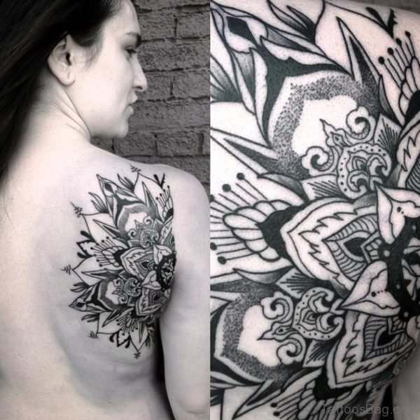 Outstanding Mandala Tattoo Design On Shoulder