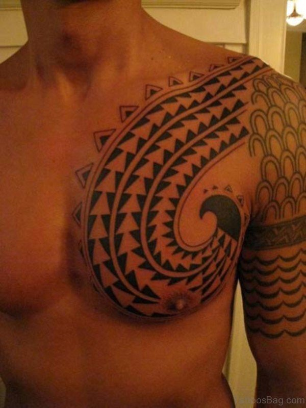 Outstanding Tribal Shoulder Tattoo