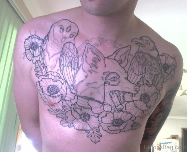 Owl And Fox Tattoo