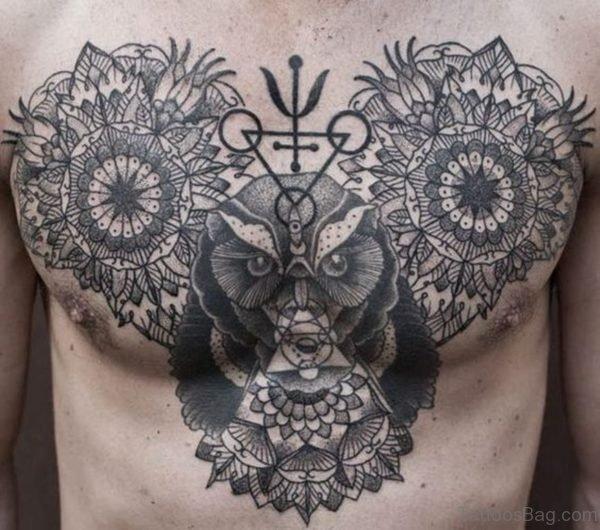 Owl And Mandala Tattoo