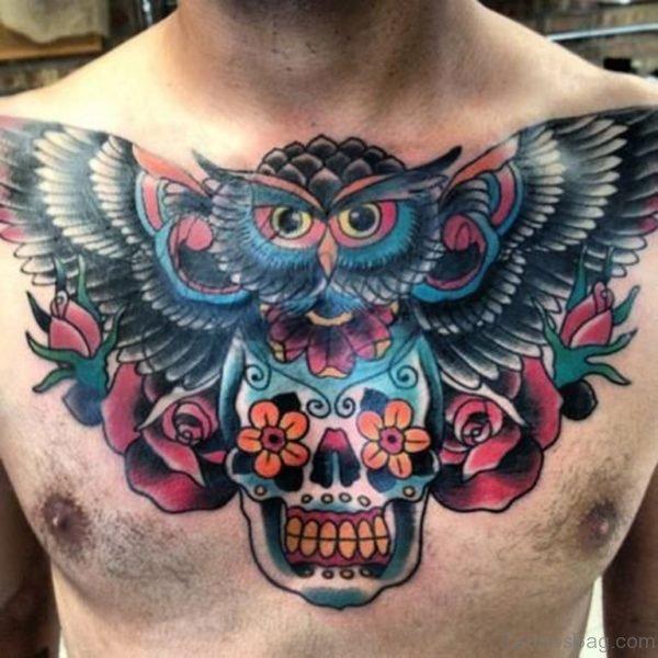 34640fd156601 99 Top Class Skull Tattoos On Chest