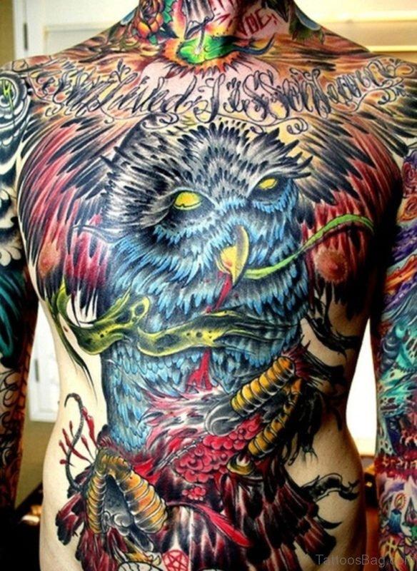 Owl Bird Tattoo On
