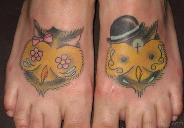 Owl Feet Tattoo