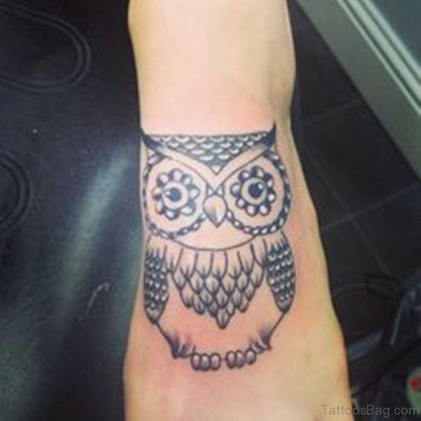 Owl Foot Tattoo