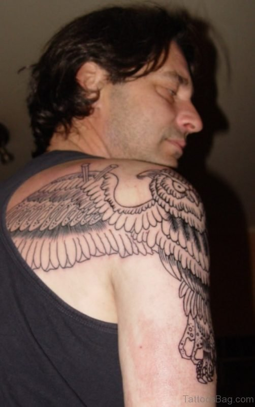 Owl Shoulder Wings Tattoo