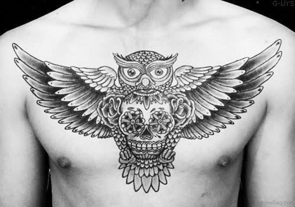 Chest Tattoo Owl Skull: 99 Top Class Skull Tattoos On Chest
