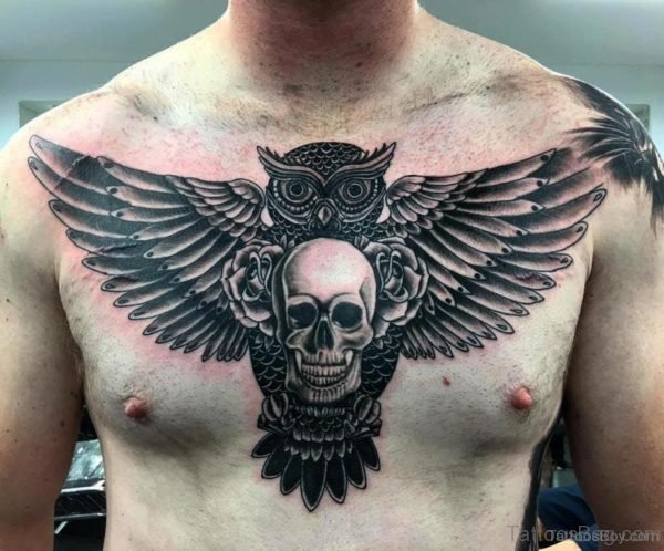 Owl With Skull Tattoo