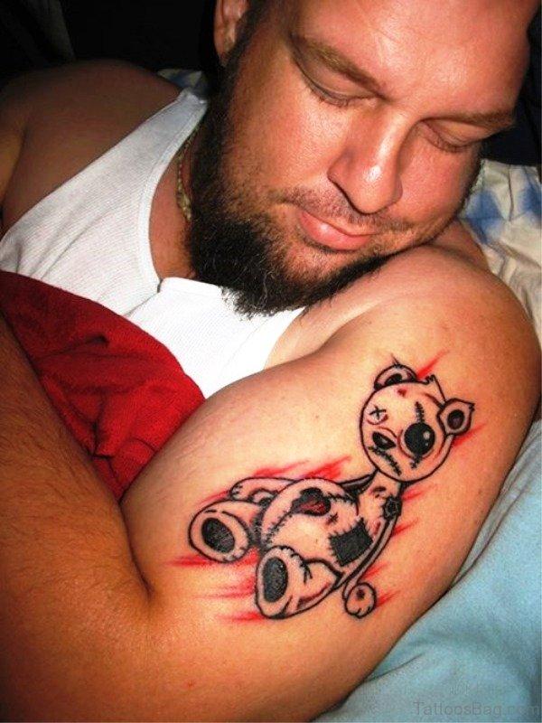 Panda Tattoo On Shoulder
