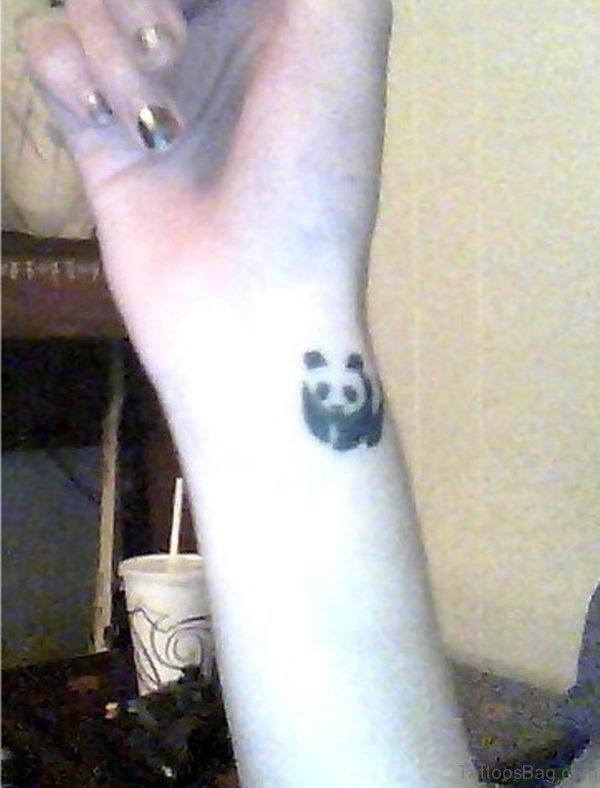 Panda Wrist Tattoo