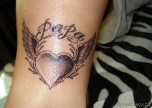 Papa And Heart Tattoo
