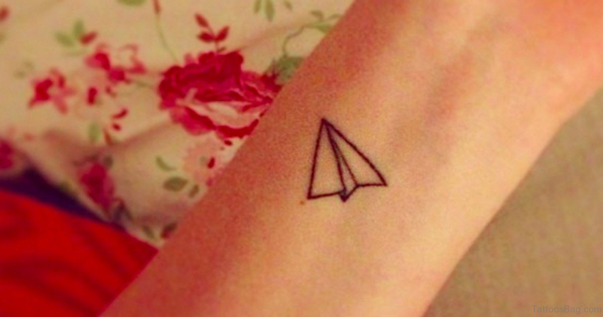 29 Lovely Airplane Wrist Tattoos