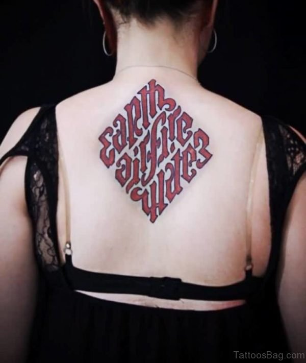Perfect Ambigram Tattoo On Back