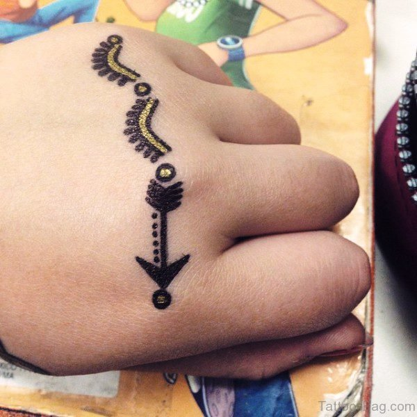 Perfect Arrow Tattoo Design On Hand