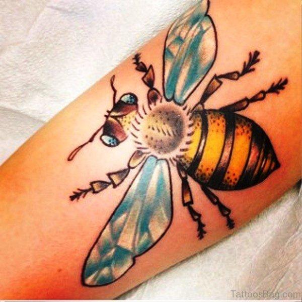 Perfect Bee Tattoo On Wrist