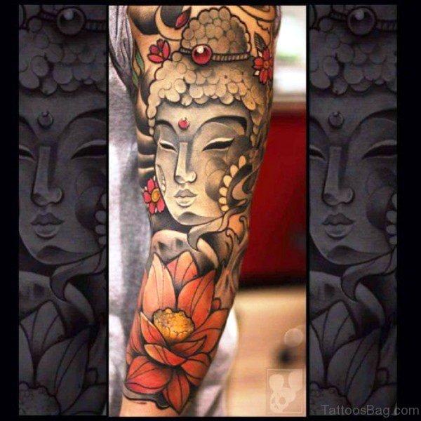 Perfect Buddha Tattoo Full Sleeve