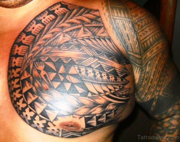Phenomenal Armour Tattoo On Chest