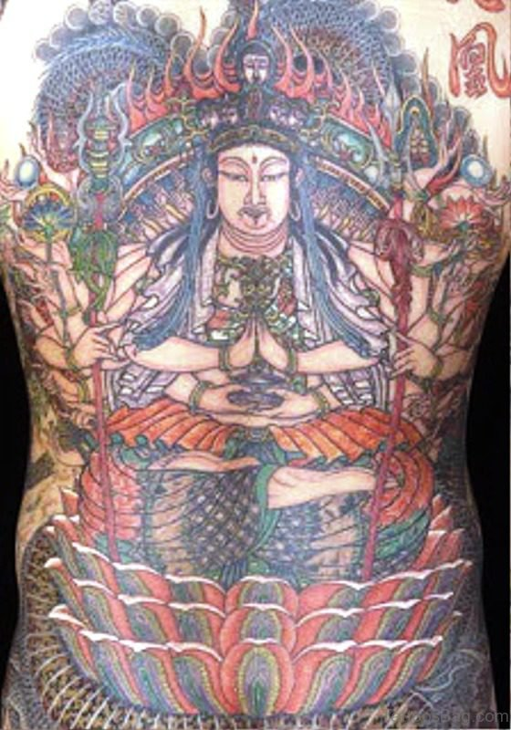 Phenomenal Buddha Tattoo On Back