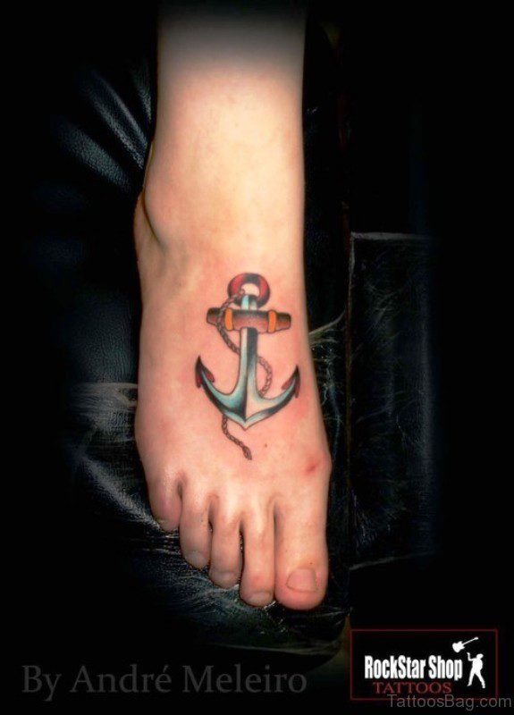 Phenomenal Colorful Anchor Tattoo