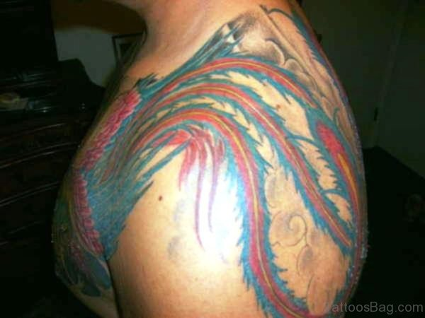 Phoenix Armour Shoulder Tattoo