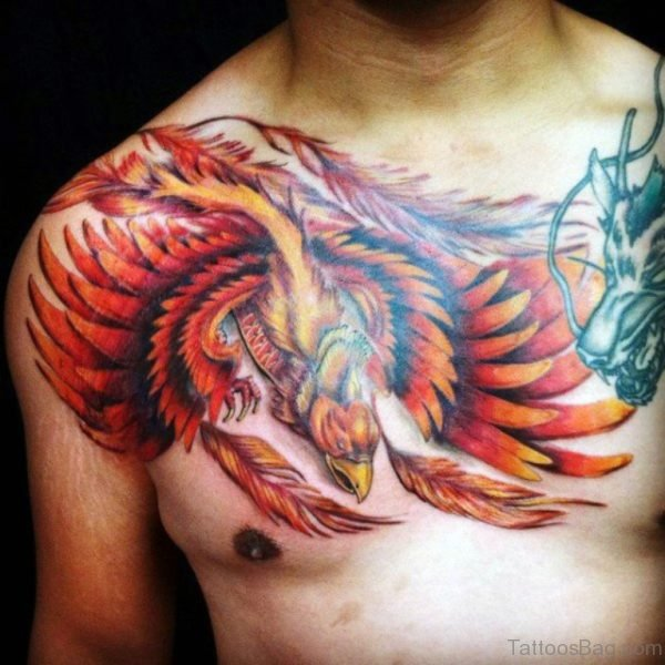 Phoenix Tattoo On Chest