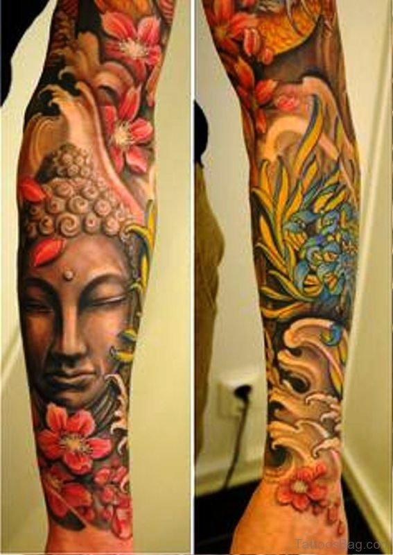Pic Of Buddha Tattoo Full Sleeve