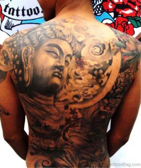 Pic Of Buddha Tattoo On Back