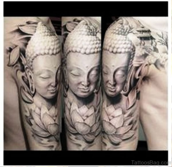Picture Of Buddha Tattoo Full Sleeve