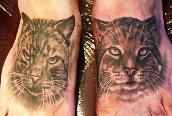 Picture Of Cats Tattoos On Feet