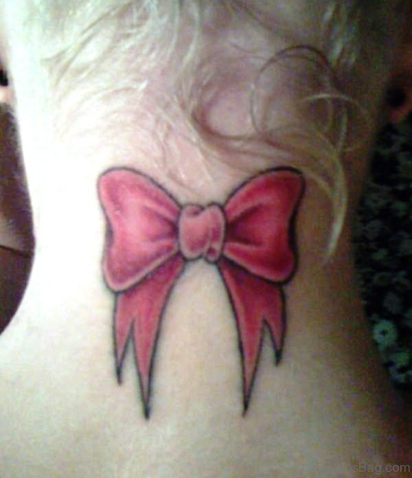 Pink Bow Tattoo Image
