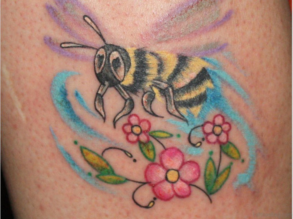 Beautiful Flowers 2019 Bee Flower Tattoo Beautiful Flowers