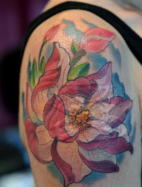 Pink Magnolia Tattoo