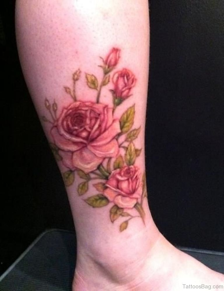 41good looking rose tattoos for ankle for Rose tattoo patterns