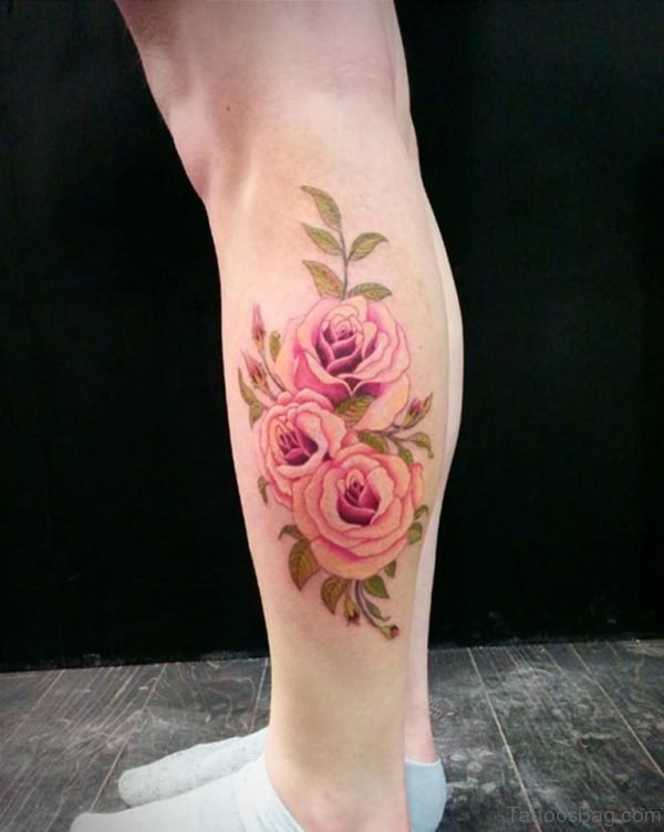 Rose Tattoos Flower: 50 Best Flower Tattoos On Leg