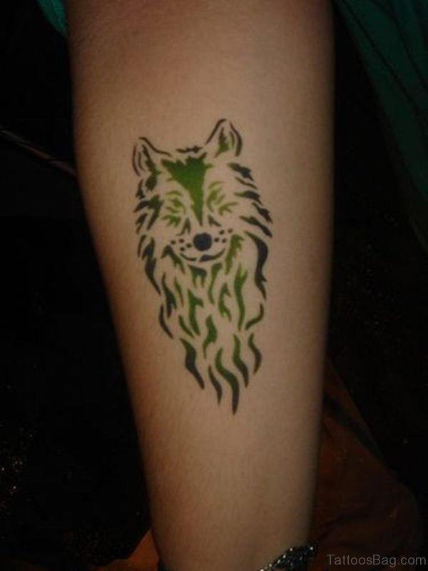 Pleaseant Wolf Tattoo