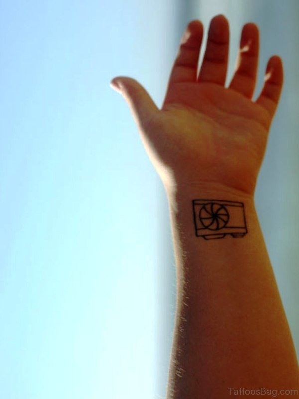 Pocket Camera Wrist Tattoo
