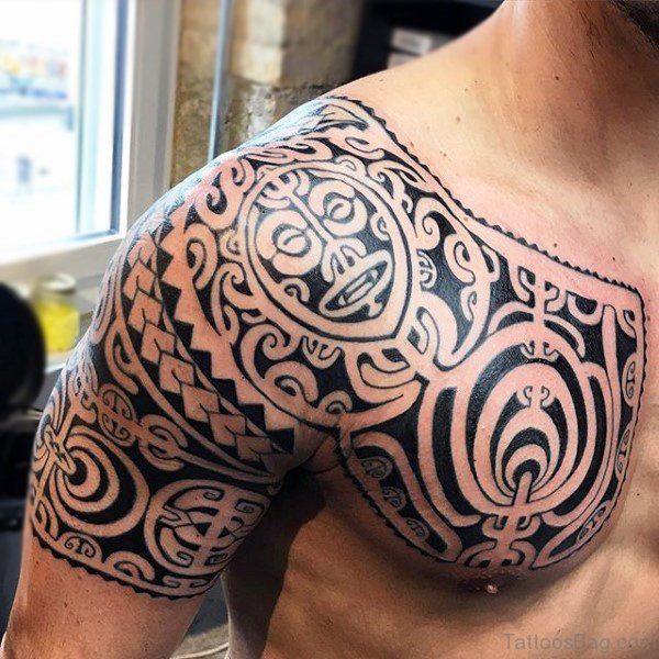 maori tattoo klein beautiful maori with maori brust. Black Bedroom Furniture Sets. Home Design Ideas