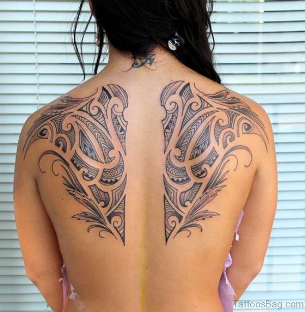 Polynesian Shoulder Blade Tattoo Design