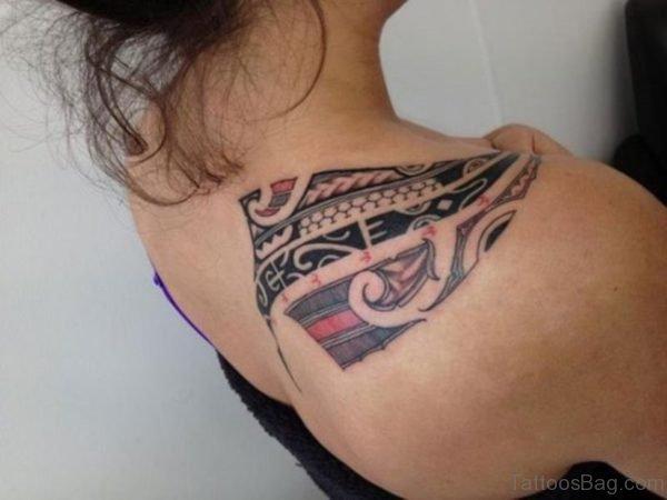 Polynesian Shoulder Tattoo For Women