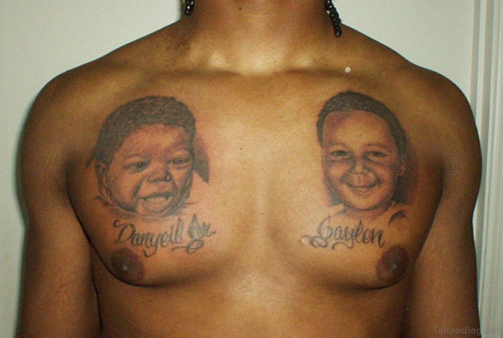 45 classy portrait tattoos on chest. Black Bedroom Furniture Sets. Home Design Ideas
