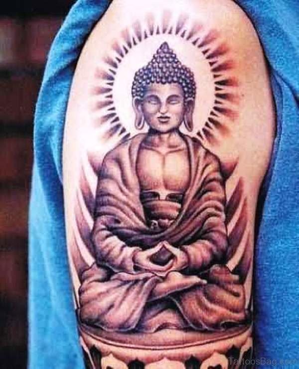 Praying Buddha Tattoo Design