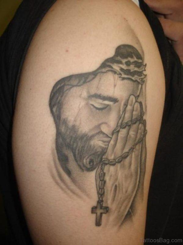 Praying Jesus Tattoo