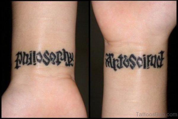 Pretty Ambigram Tattoo