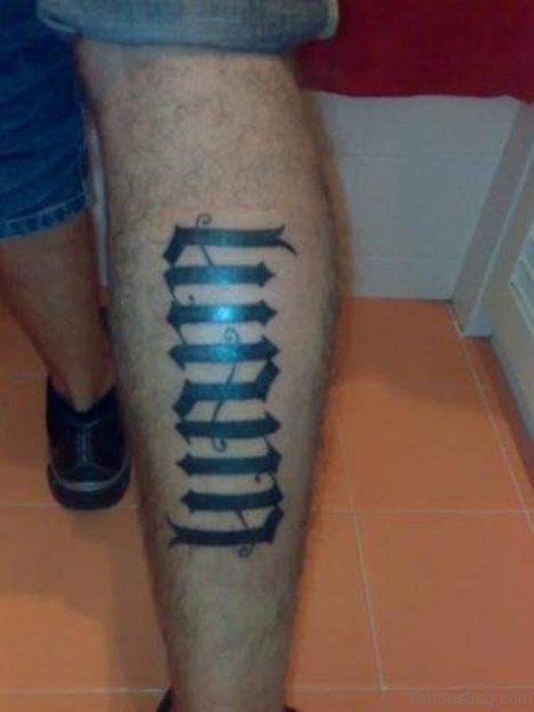 Pretty Ambigram Tattoo Design