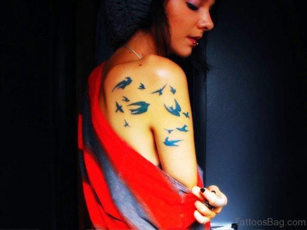 Pretty Blue Birds Tattoo