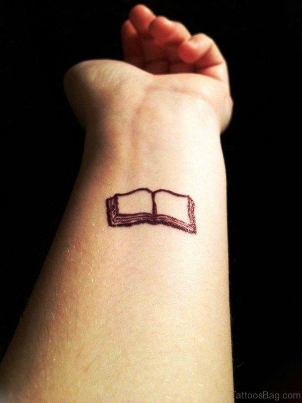 Pretty Book Tattoo On Wrist