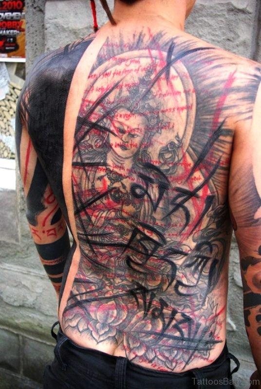 Pretty Buddha Tattoo Design