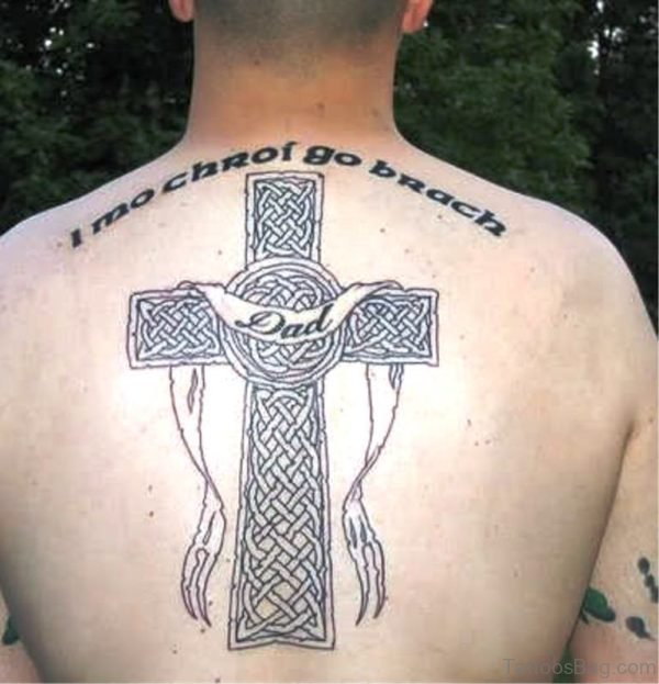 Pretty Celtic Cross Tattoo