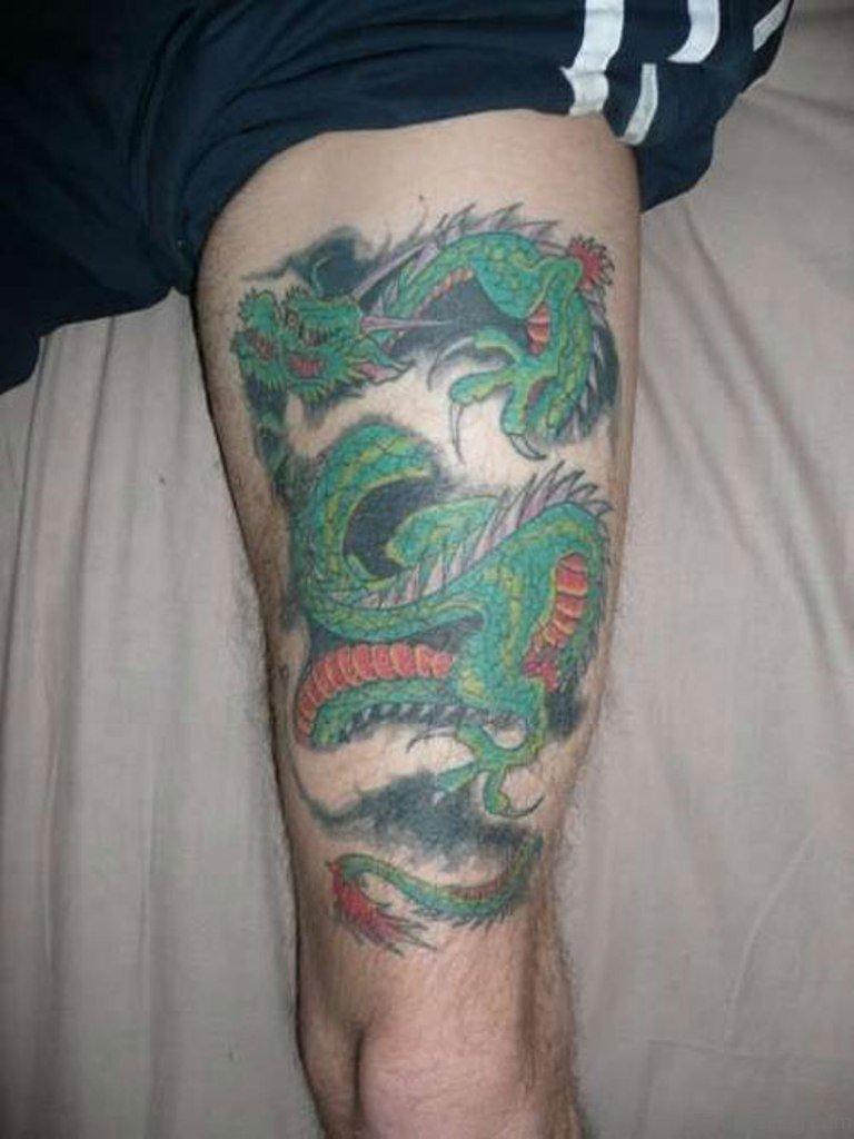 30 Dragon Leg Tattoo Designs For Men – Masculine Ink Ideas